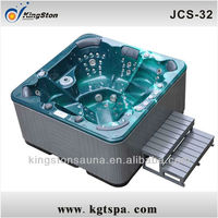 High quality Water Massage Outdoor Hot tub Spa with Cover lifter