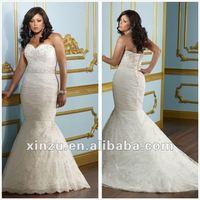 2014 Newest Sweetheart Mermaid Plus Size Wedding Dresses