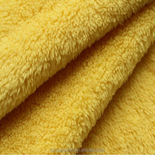 yellow wool sherpa fleece pillow fabric
