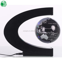 High end gift C shape base 3 inch floating globe wine gift baskets