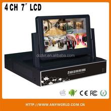 CCTV security 4ch DVR Hybrid AHD DVR, NVR