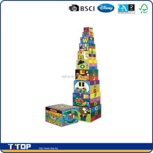 BSCI,FSC Certificated ABC 123 Building Stacking Blocks Baby toys