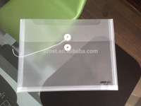 Clear plastic file envelope, PVC document bag