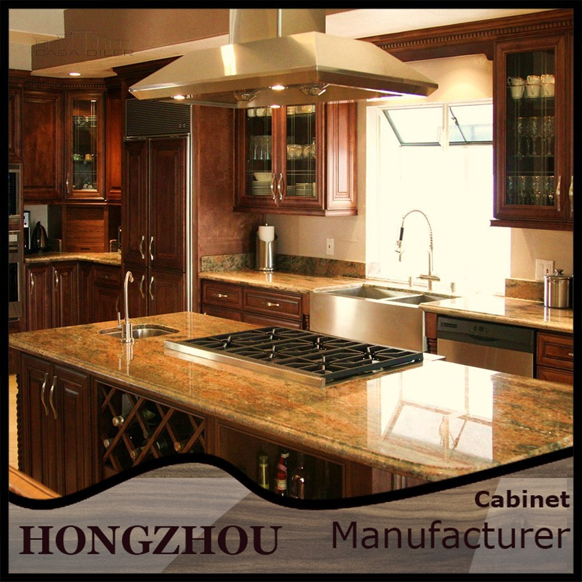 2015 all wood kitchen cabinets of foshan furniture factory for All wood kitchen cabinets