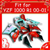 Sportbik fairing kits ABS plastic for YZF R1 2000 2001, High quality ABS plastic,YZF 00 01 fairing parts with colorful