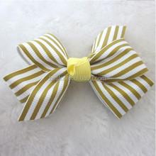 2015 New Handmade pretty wholesale colorful stripe ribbon bow tie for accessories
