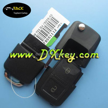 Alibaba recommend high quality and good price for vw key 2+panic button flip remote key blank