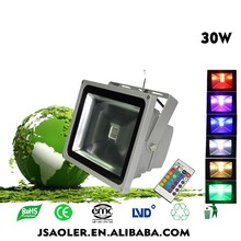 2015 Year Hot sale with Remote Control waterproof Factory Price 30W RGB Flood Light