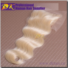 Wholesale new products factory price 100% human hair lace closures 613 virgin hair bundles with lace closure