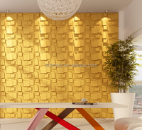 interior decoration 3d effect embossed building material wall panels wood