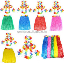 Made In China Party Supplies Lady Party Design Dance Skirt Hawaiian Grass Skirt With Fancy Dress Hula BWG-7172