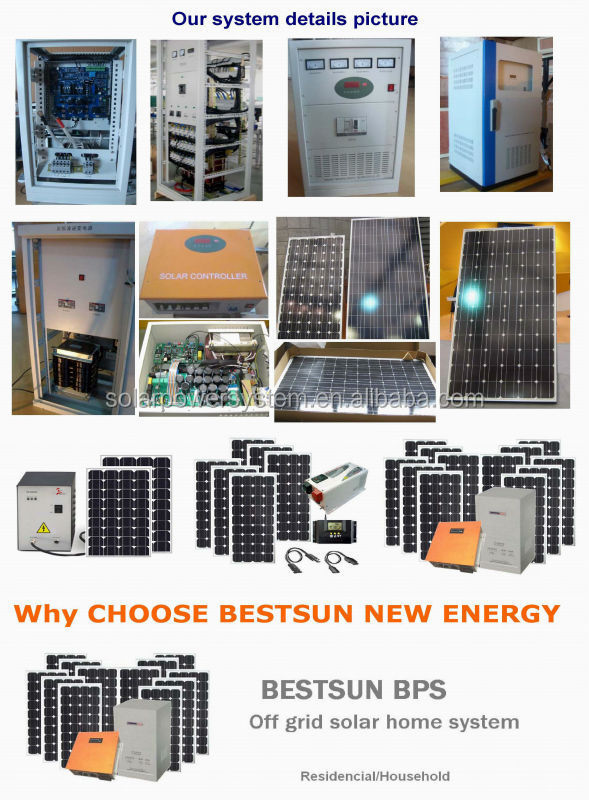 High quality grid switch 3000W price per watt solar panels in india