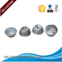 ISO 9001 factory top promotion alloy casting aluminum led light shell