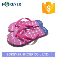 Customized flip flop rubber house shoes for women
