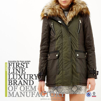 2015 Women warmly Goose Down Jacket With Raccon Fur