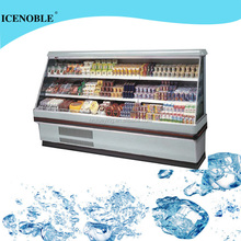 supermarket multi layers upright freezer for fruit and vegertable