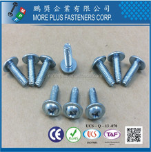Made in Taiwan Carbon Steel IFI SPEC Carbon Steel C1022 PHIL Round Washer Head Case Harden Type F Self Tapping Screw