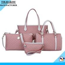 Designer women tote handbag 4 pcs set bag for women