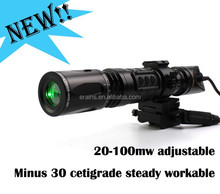 Suzero Output power adjustable Long Distance 100mw tactical 100mw Green Laser Dazzle Designator Illuminator Sight Torch