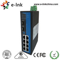 Support MAC address learning 8-port Ethernet+ 2-port Gigabit Managed Ethernet switch