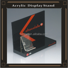 acrylic pop display retail cosmetic counter stand with printings acrylic display