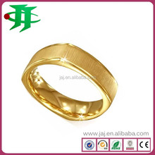 Top popular trendy 24K Gold Plated Mens 316l Stainless Steel Jewelry rings