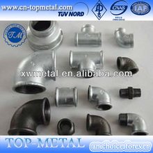 BS standard galvanized malleable iron pipe fittings