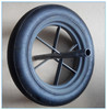 Manufacture cheap steel rim 300mm wheelbarrow solid wheel