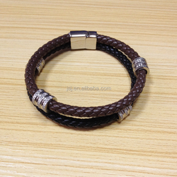 European Real leather personalized custom Braided Bracelet 2015