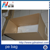 manufacturer factory price blue tube film beauty PE packing bag