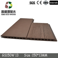High Quality Outdoor Waterproof pvc wood plastic exterior wall cladding ( SGS FSC CE EU standard etc . )