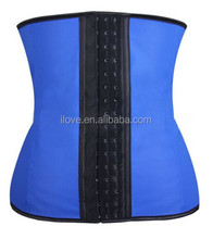 Made in china hot sales 3 hooks latex rubber waist training cincher corset
