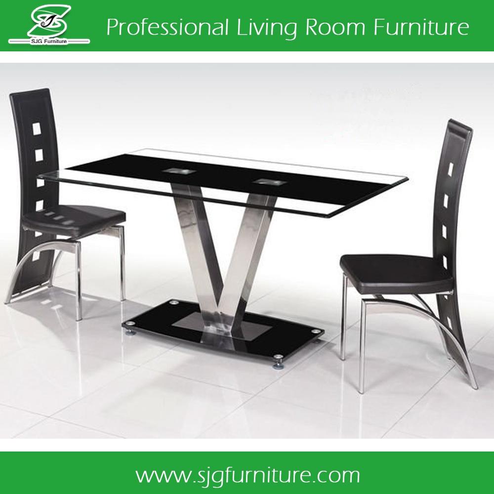 Modern Fashion V Stainless Steel Leg Dining Room Set Glass Dining Table Buy