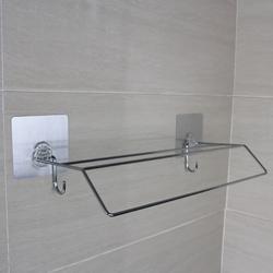 stainless steel wire metal design hotel bathroom shelf with towel bar