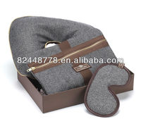 2013 luxury corporative gift with travel pillow,sleep eye mask,envelop wash bag travel set
