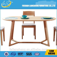 Foshan Liansheng furniture 2015 new design Dining Tables Wood Made In China DT007-2