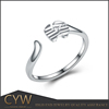 CYW alibaba express 925 silver no stone finger ring accessories for women