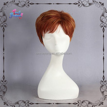 Brown Short Haircut Synthetic Male Wig Men's Toupee