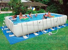 "INTEX 32' x 16' x 52"" Ultra Medal Frame Rectangular Swimming Pool Set,above ground swimming pool"