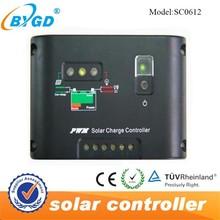 street light solar controller PWM 12V 6A solar charge controller SC0612