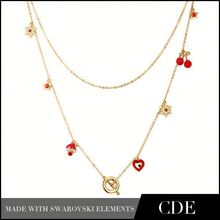 2015 Trending New Products Gold Jewelry Christmas Charm Necklace N0248