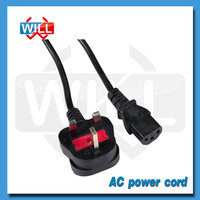 OEM factory cheap UK 250V t5 lamp power cord with BS VDE