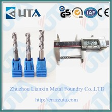 custom tungsten carbide end milling cutter wholesale 6mm shank square nose and ball nose