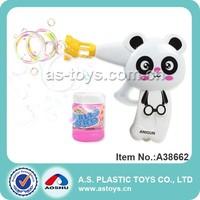Amazing Transparent Plastic Mini Bubble Blower Gun-Cartoon Panda Bubble Gun