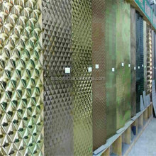 201 cold rolled stainless steel sheets gold color by etching