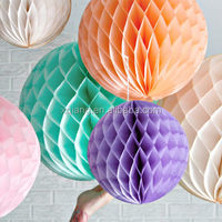 Mix colors tissue paper HONEYCOMB paper BALLS for wedding party decorations