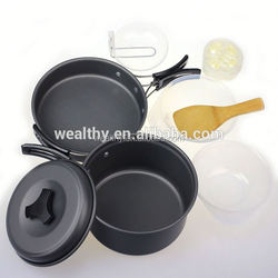 Competitive price factory directly cookware set removable handles