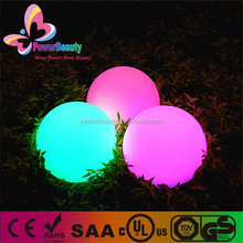 rgb led lighting plastic housing rechargeable color changing led float pool ball