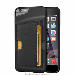 2015 Hot Geniune Leather Case For Iphone 6 Plus, For Iphone 6 Plus Case , Back Cover Wallet Case For Iphone 6 Plus 5.5