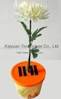 Plastic LED solar flower chrysanthemum/rose